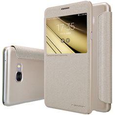 Case for Samsung Galaxy C7 Case Nillkin Sparkle Series Leather Case For Samsung C7 Phone Case For Samsung C7000 Protective Cover