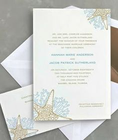 Ideas para invitaciones de boda: Estilo de Playa