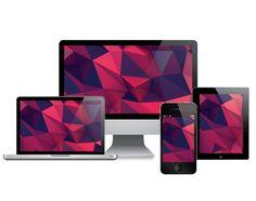 low poly desktop - laptop - phone- wallpapers - free on Behance