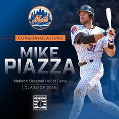 mets | Congratulations Mike Piazza on your election to the Baseball Hall of Fame! #PiazzaHOF #Mets