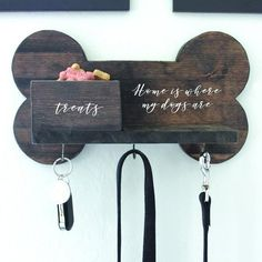Dog leash holder - Leash Holder Key Hook Home Is Where My Dogs Are Dog Leashes Dog Mom Dog Lover 16 in x 9 in Dog Leash Holder, Bois Diy, Diy Casa, Dog Rooms, Dog Play Room, Small Shelves, House Warming, Fur Babies, Dog Lovers