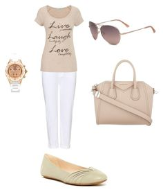 Светлые балетки by lukashenko-n on Polyvore featuring мода, maurices, J Brand, Nine West, Givenchy, Michele and Bebe