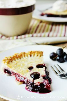 Concord Grape Tart | From My Sweet Heart