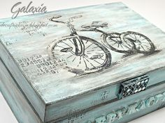 Think Madison for more color boxes Decoupage Box, Decoupage Vintage, Painted Boxes, Wooden Boxes, Shabby Chic Boxes, Cigar Box Crafts, Altered Cigar Boxes, Pretty Box, Vintage Box