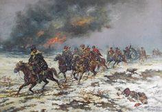 Tadeusz RYBKOWSKI (1846-1926)  Rok 1915 w Galicji olej, płótno; 36 x 51 cm;