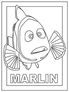 Coloring Pages Finding Nemo Marlin from Printable Finding Nemo Coloring Pages. Here, you can find Finding Nemo coloring pictures for children, young people, and adults. Finding Nemo is an animated film from Pixar Animation Studio. Finding Nemo Coloring Pages, Toy Story Coloring Pages, Turtle Coloring Pages, Coloring Pages For Grown Ups, Horse Coloring Pages, Princess Coloring Pages, Cartoon Coloring Pages, Disney Coloring Pages, Coloring Pages To Print