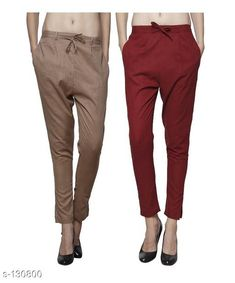 Trousers & Pants Gorgeous Cotton Pant (Combo of 2) Fabric: Cotton Waist Size: 26 in 28 in 30 in 32 in 34 in 36 in 38 in 40 in 42 in Length: Up to 35 in to 36 in Type: Stitched Description: It Has Combo of 2 Pant Pattern: Solid Country of Origin: India Sizes Available: 26, 28, 30, 32, 34, 36, 38, 40, 42   Catalog Rating: ★4 (204)  Catalog Name: Ladies Cotton Pants Combo Vol 1 CatalogID_12887 C79-SC1034 Code: 295-130800-9942