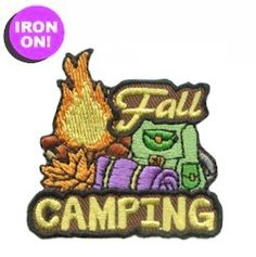 Fall Camping Girl Scout Fun Patch, only $.69! See PatchFun.com for more Girl Scout Fun Patches
