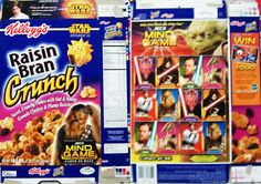 Raisin+Bran+box   ... Kellogg's Cereal Boxes/Han Solo/Video/Corn Pops/Raisin Brand/Loops