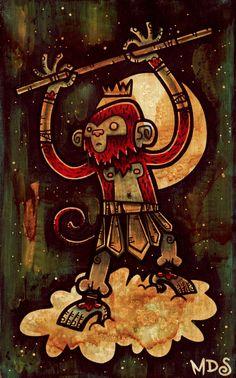 ARTIST: Matt Sinor - Monkey King Art Print @ Society6 #MonkeyKing #SuWukong #Yellowmenace