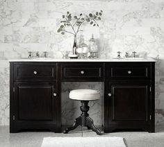 Pottery Barn Houlton Double Sink Console - home decor / bathroom furniture