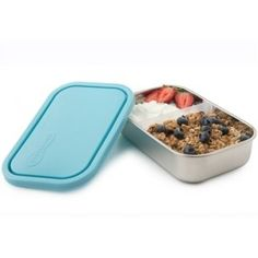 U Konserve 25 oz. Divided Rectangle Stainless Steel Container (Set of Stainless Steel With Light Blue Lid Gourmet Recipes, Dog Food Recipes, Stainless Steel Lunch Containers, Best Bento Box, Chocolate Pizza, Insulated Lunch Tote, Plastic Ware, Salad Bar, Food Storage Containers