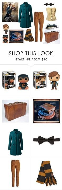 """""""Fantastic Beasts and Where to Find Them"""" by teenwarrior ❤ liked on Polyvore featuring Lands' End, Neiman Marcus, Barbour, newt, fantasticbeastsandwheretofindthem, fbawtft and Niffler"""