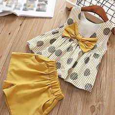 Girls Summer Outfits, Little Girl Outfits, Little Girl Dresses, Baby Outfits, Little Girl Clothing, Girls Casual Dresses, Baby Dresses, Summer Girls, Baby Girl Fashion