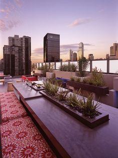 Modern Loft in Melbourne by dKO Architecture Porches, Rooftop Terrace Design, Rooftop Gardens, Terrace Ideas, City Gardens, Rooftop Deck, Landscape Design, Garden Design, Roof Architecture