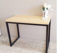 escritorio mesa arrime cubo estilo (hierro madera)
