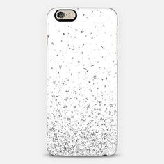 White and Silver Stars Rain iPhone 6 Case by Organic Saturation | Casetify. Get $10 off using code: 53ZPEA