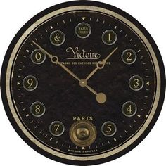 victorie wall clock with working internal pendulum 23 how awesome is this clock a real blank wall clock frei