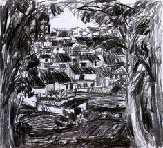 Paisaje 63-2003 Fuente Obejuna Dibujo Original por PINACOTHECULA