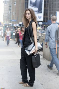 slouchy silhouette on classy items