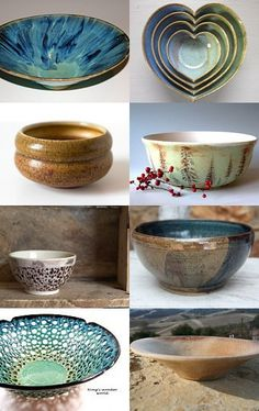 Pottery - love the heart shaped...