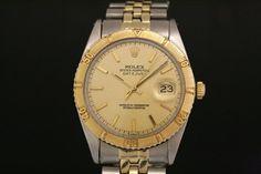 Rolex Datejust Turn-O-Graph in Stahl/Gold (ca. 1966)  Jubilee-Band, Champagner Zifferblatt, Strich Indexe  Referenz: 1625 | 1,9 Mio-Serie  http://www.juwelier-leopold.de/uhren/rolex/vintage_2.html