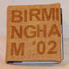 I just ordered this personalized burlap photo album for my wedding photo album! #tomfoolery