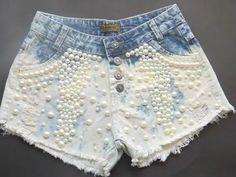 #short#customizado#perolas#josii