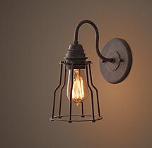 Industrial Cage Filament Sconce