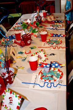My girls' Dr. Seuss Birthday party