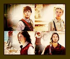 Edmund, Eustace, Lucy, and Caspian