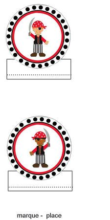 Printable Pirate Place Card