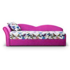 #tapczan tapicerowany OLIWIA #meble #różowy #dziewczyna