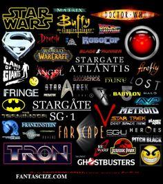 various sci-fi fantasy logos. Fantasy Logo, Sci Fi Fantasy, Science Fiction, Space Hero, Lost Stars, Fandoms Unite, Metroid, Geek Girls, Deep Space