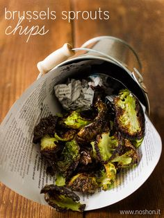 Brussels Sprouts Chips - Low Carb and Gluten-Free | All Day I Dream About Food
