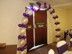 link-o-loon balloons in satin white & purple
