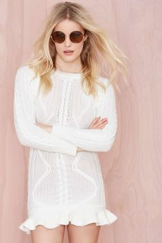 UNIF Alleger Sweater Dress   Nasty Gal