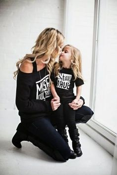 Best Mini-me photos: Fashionista parents and kids! matching outfits, mommy and daughter, daddy and son