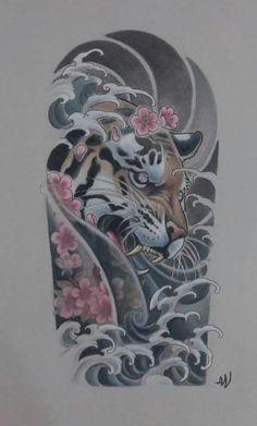 25+ best ideas about Tiger tattoo