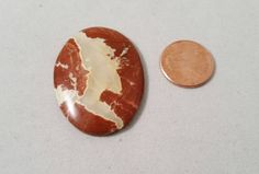 Calibrated Oval Hand Cut 40 mm x 30 mm x 6.5 mm Designer Agate Cabochon 11.5 gms;  Silversmithing,Bead Embroidery, Wire Wrap by DKHandcraftedJewelry on Etsy
