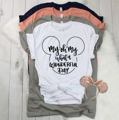 My oh my what a wonderful day rose gold glitter disney shirt, unisex tee, trendy Disney, : Cute Disney Shirts, Disney Vacation Shirts, Disney Tees, Disney Diy, Disney Vacations, Disney Cruise, Disney Shirts Women, Disney World Shirts Family, Disney 2017
