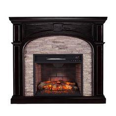 22 best faux stone electric fireplace images fire places Rustic Fireplace Mantels infrared fireplace media mantel