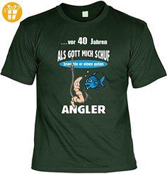 Lustiges T-Shirt zum 40. Geburtstag für Angler - Witzige Geschenk Idee für Fischer, Größe:L (*Partner-Link)