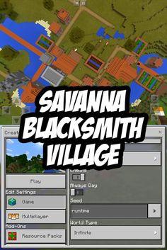 Savanna Blacksmith Seed for Minecraft PE. Seed: runtime