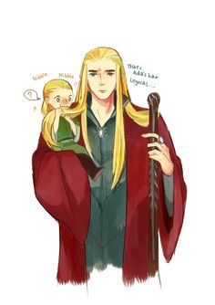Thranduil parenting Little Legolas…