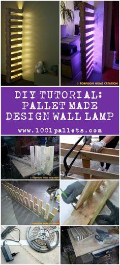Diy Tutorial: Pallet-made Design Wall Lamp