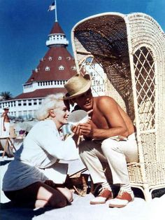 There are many haunted rooms and a Black Lady haunts the beach at The Del. Previous pinner: Marilyn and Tony Curtis, Del Coronado Hotel, San Diego, CA