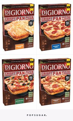 DiGiorno& New Crispy Pan Pizzas Sound Too Dang Tasty to Handle Grilled Cheese Recipes, Baked Chicken Recipes, Frozen Appetizers, New Pizza, Yellow Foods, Pizza Flavors, Food Branding, Frozen Pizza, Cold Meals