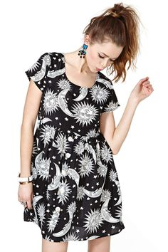 Reverse Sun and Stars Dress   Shop Clothes at Nasty Gal