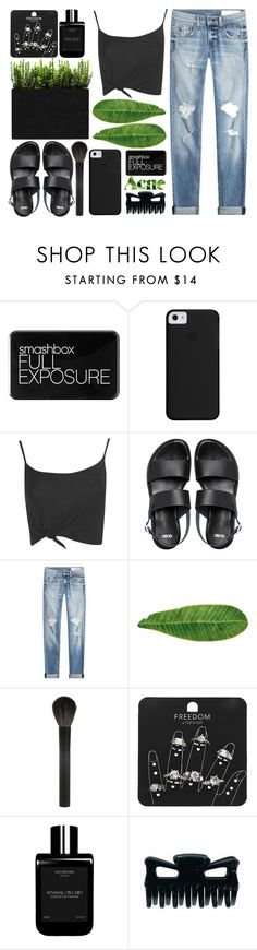 """outlaw"" by anastazia-jae ❤ liked on Polyvore featuring Smashbox, Boohoo, ASOS, rag & bone, Acne Studios, Abyss & Habidecor, Giorgio Armani, Topshop and LM Parfums"